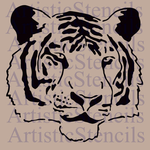 Tiger Head Stencil - Various sizes