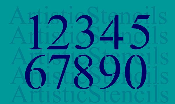 Times New Roman Stencil Numbers Set - Various Sizes