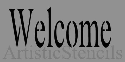 Welcome Stencil - Various sizes