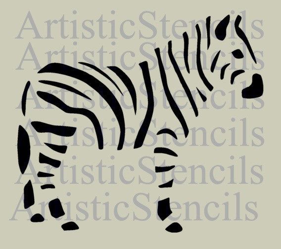 Zebra Stencil - Various sizes
