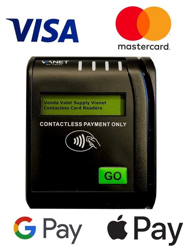 Contactless card reader for vending machine
