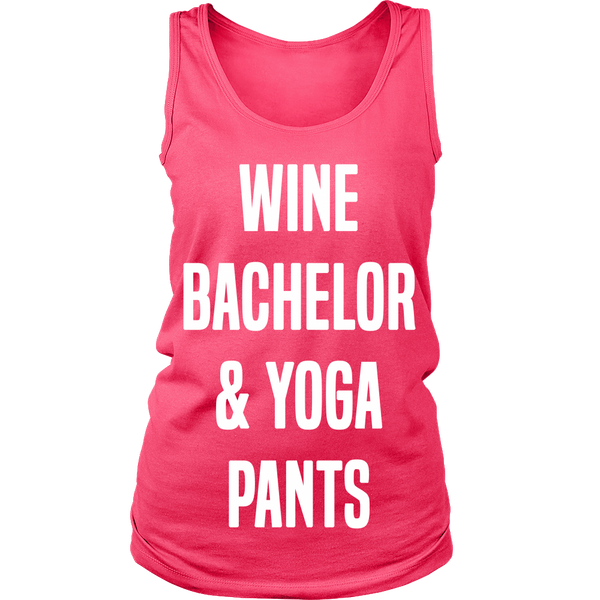 'WINE BACHELOR & YOGA PANTS WOMEN'S TANK