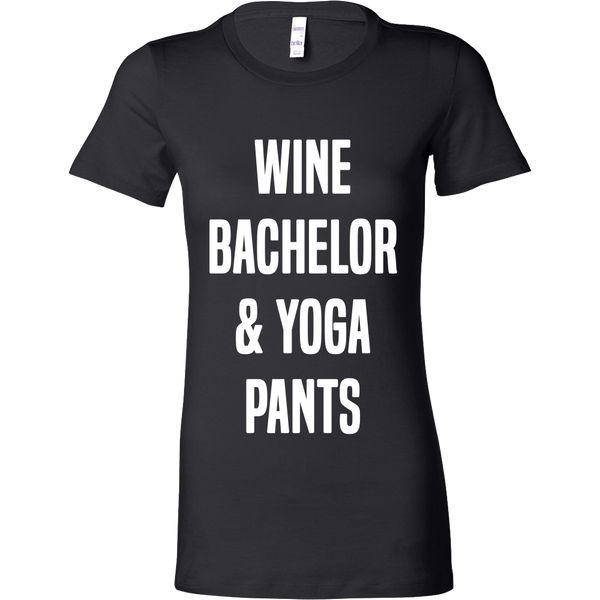 WINE BACHELOR & YOGA PANTS WOMENS FITTED TEE