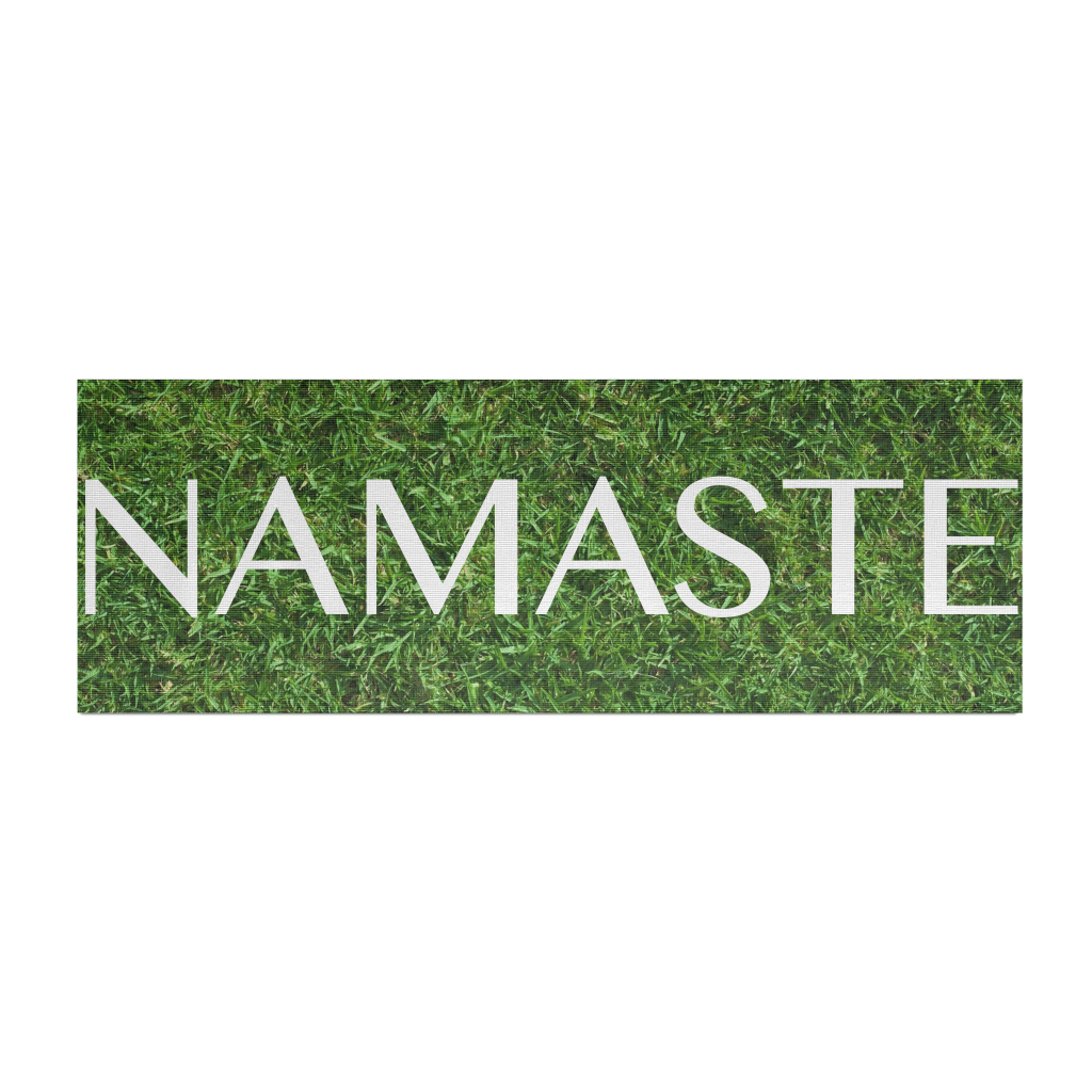 NAMASTE on Grass - Yoga Mat