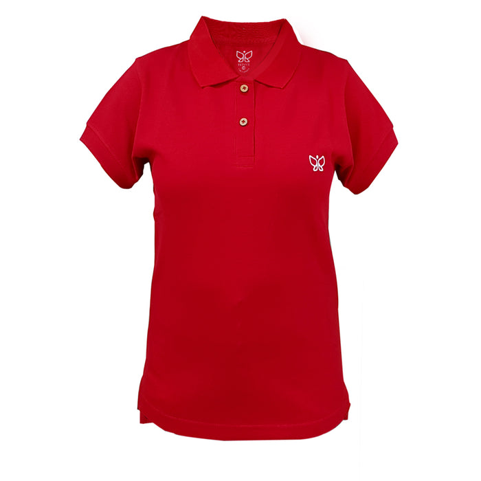 Cherry Red Women's Polo Tshirt Regular