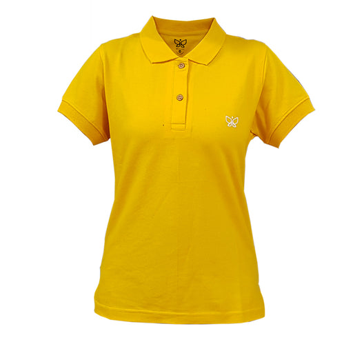Golden yellow Women's Polo Tshirt Regular Use code POLO to get buy 1 get 1 offer - Deivee