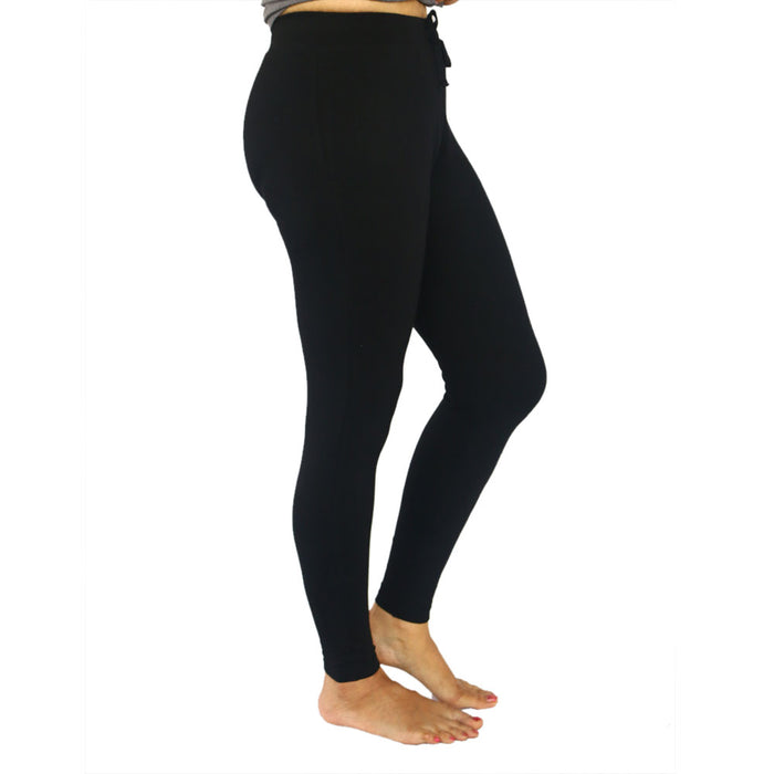 Black Fitted Ankle Length Pants (Tights) - Deivee