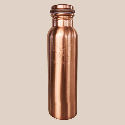 Deivee Copper Water Bottle - Matte finish engraved logo - Deivee