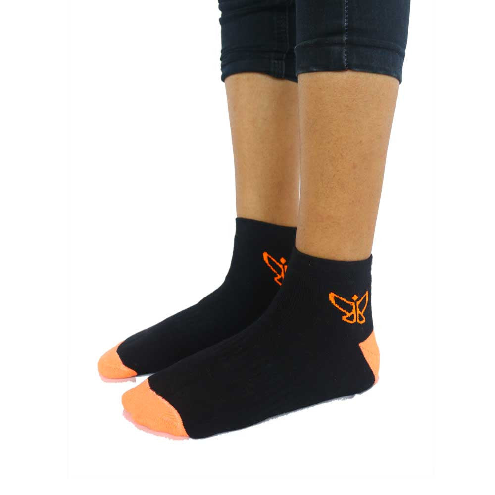 Black & Orange Antimicrobial Socks - Deivee