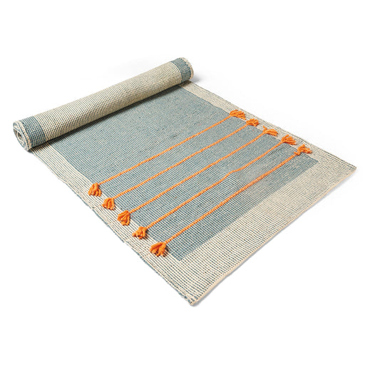 Nirvana Grey Cotton Yoga Mat - Deivee