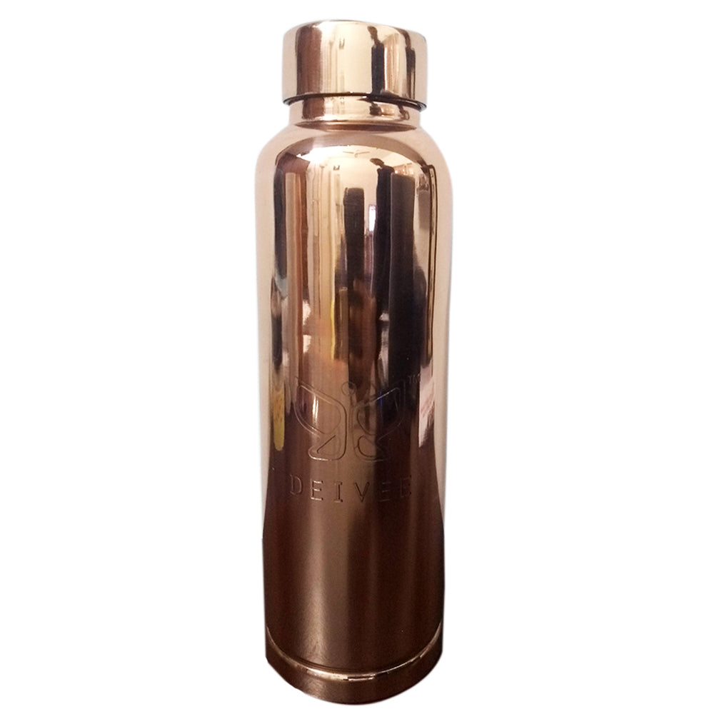 Deivee Copper Water Bottle- Mirror finish - Deivee