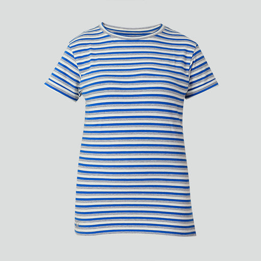 Blue Grey Striped T-shirt - Deivee