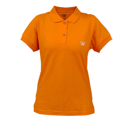 Orange-Women's Polo Tshirt Regular - Deivee