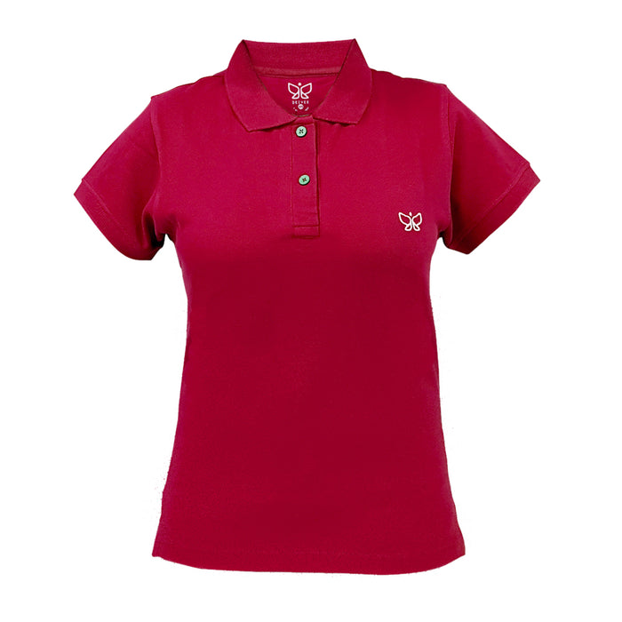 Candy Red Women's Polo Long Tshirt - Use code POLO to get buy 1 get 1 offer - Deivee