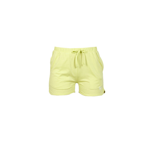 Deivee Green Basic Cotton Shorts For Women
