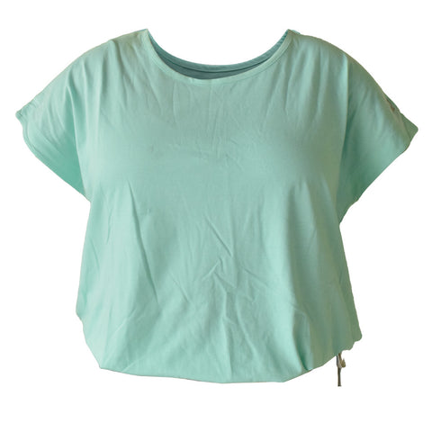 Cabbage Green Drawstring Hem Top