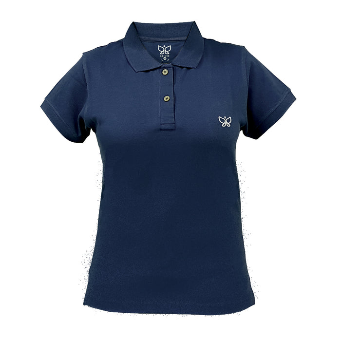 Oxford Blue-Womens Polo Tshirt Long - Deivee