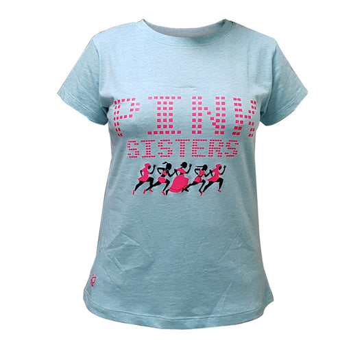 Deivee- Round neck sky blue Sisterhood Celebration Tee