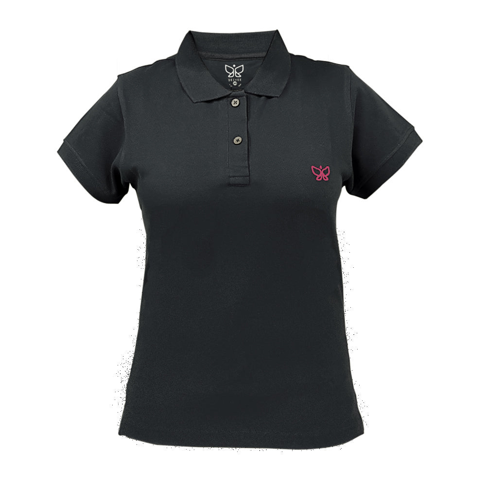 Grey Women's Polo Long Tshirt - Deivee