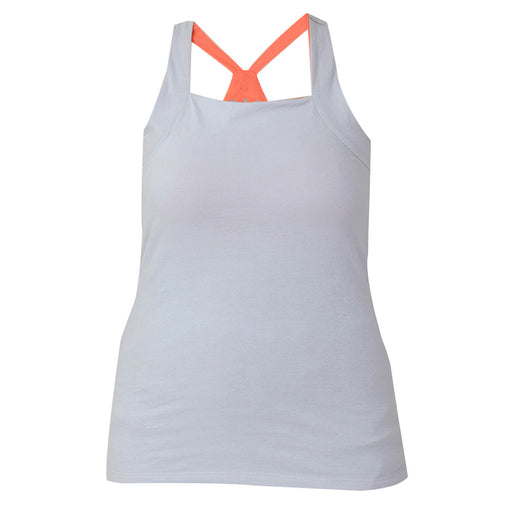 Grey & Fresh Salmon Built In Bra Tank Top