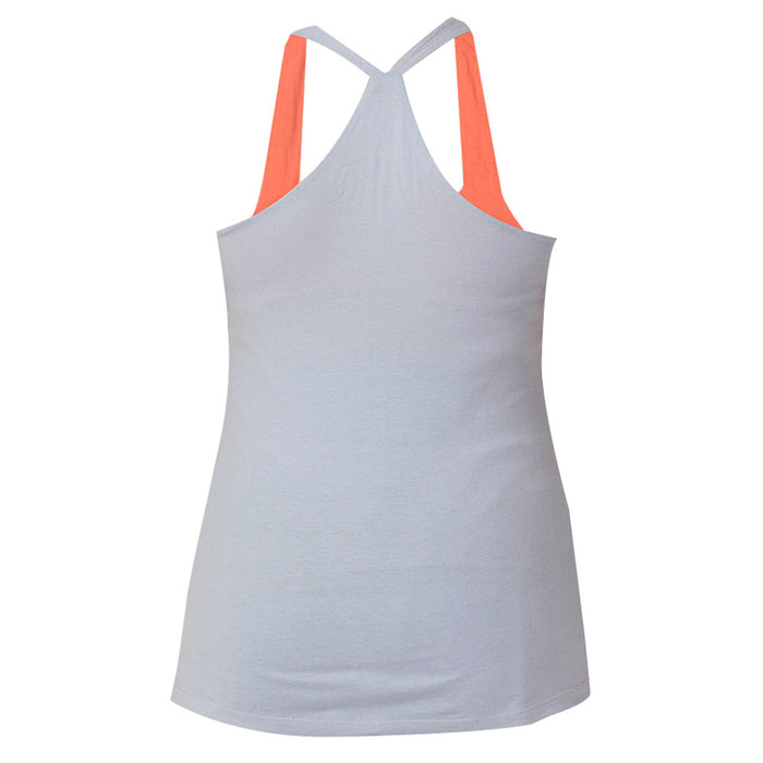 Grey & Fresh Salmon Built In Bra Tank Top - Deivee