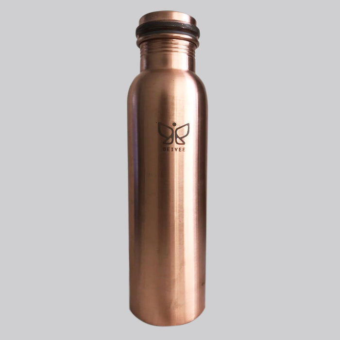 Deivee Copper water bottle - Matte finish printed logo - Deivee