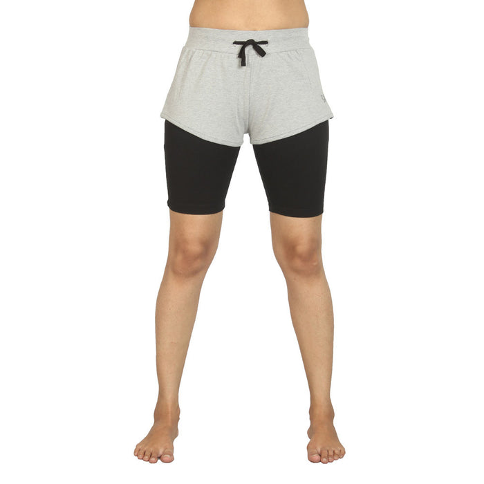 Grey Melange Ashtanga Yoga Tight - Deivee