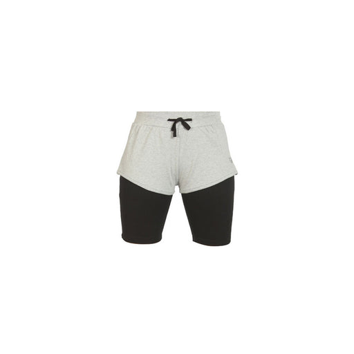 Deivee-Grey Melange Shorts for Yoga