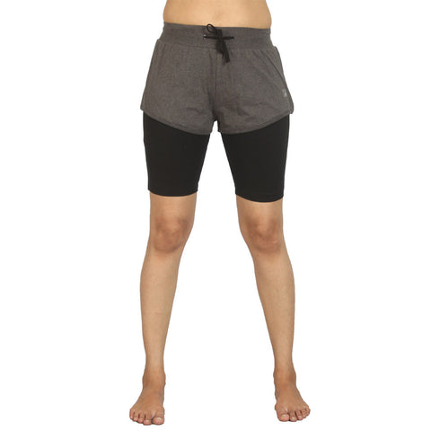 Charcoal Melange - Ashtanga Yoga Tight - Deivee