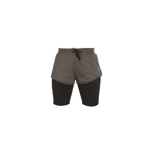 Deivee-Charcoal Melange  Shorts and Yoga Tight
