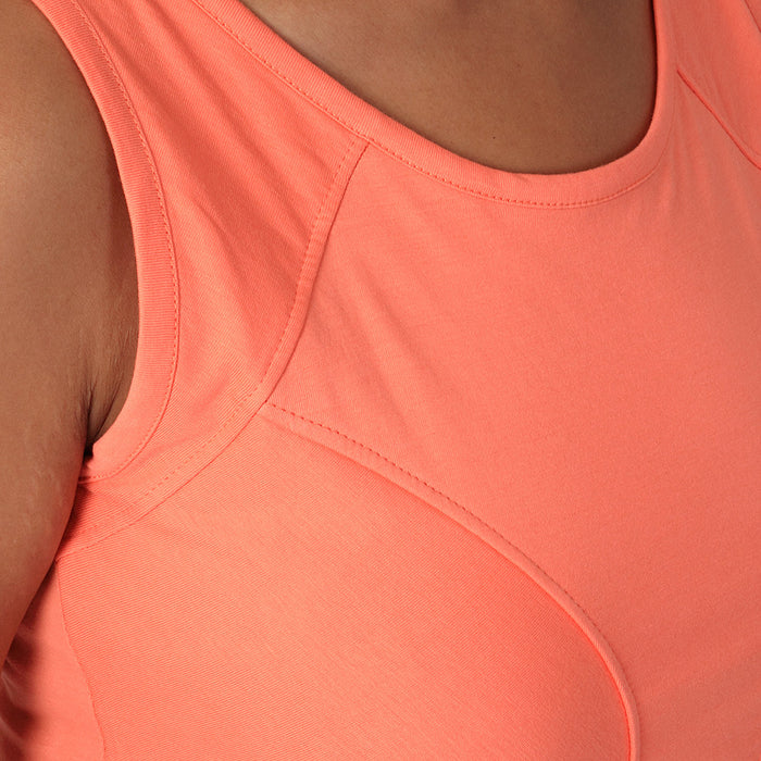 Fresh Salmon Paneled TankTop - Deivee