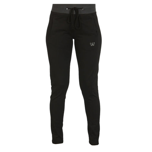 Black Ribbed Yoga Pants - Deivee