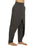 CHARCOAL Melange  - wrap Style Organic Cotton Yoga Pants - Deivee
