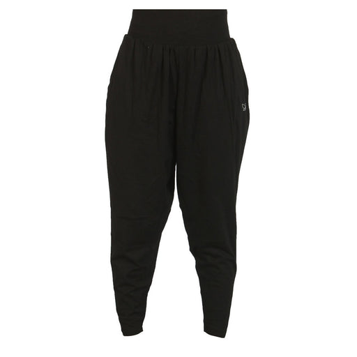 Black - Drop-crotch Harem Pant - Deivee