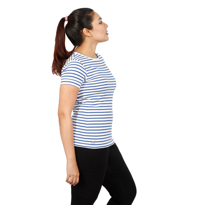 Blue & White Stripes T-Shirt - Deivee