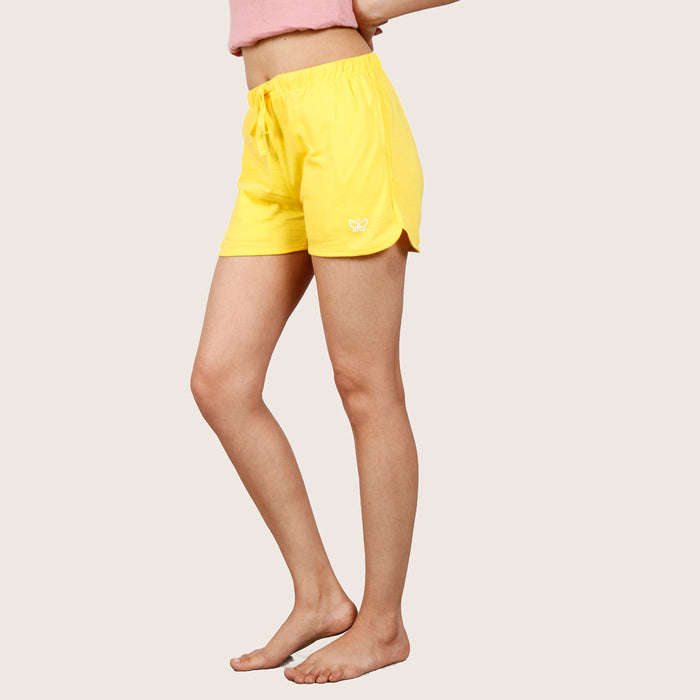 Yellow Deivee Basic Shorts - Deivee