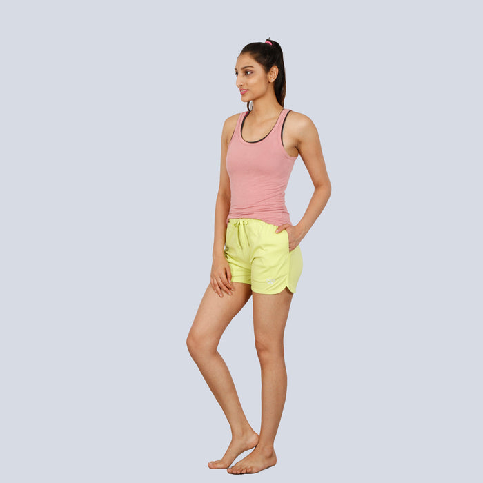 Green Deivee Basic Shorts