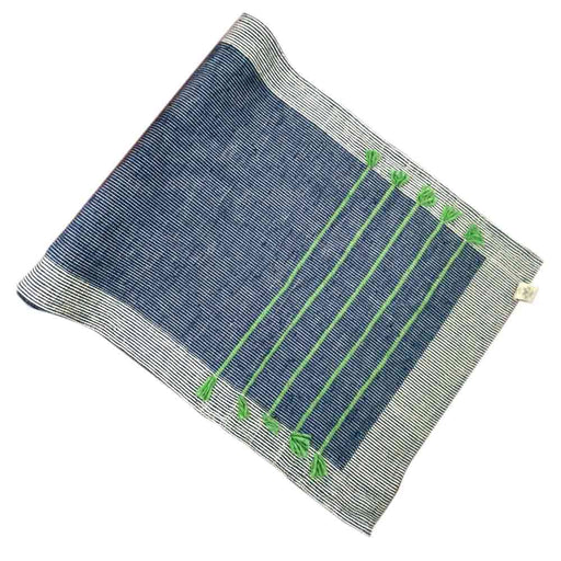 Nirvana Blue Cotton Yoga Mat - Deivee