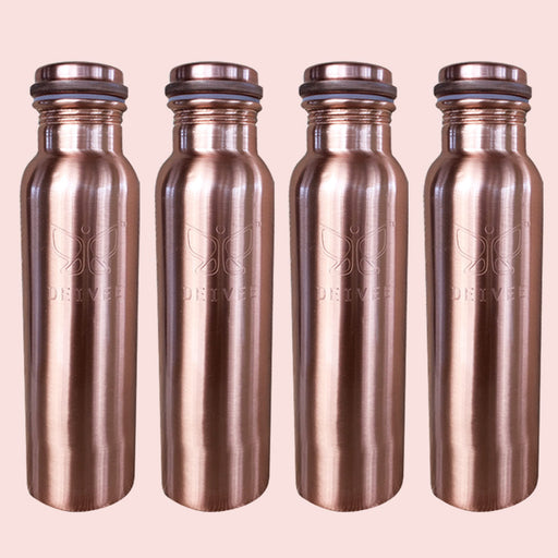Healthy Family Combo - 900 ml Copper Water Bottle - Deivee