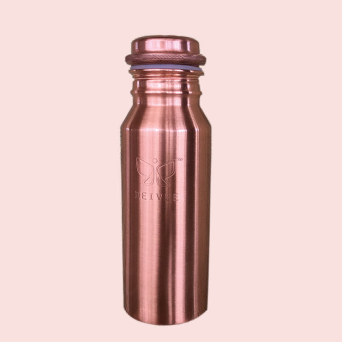 Travel Size Deivee Copper Water Bottle - Engraved logo Small - Deivee