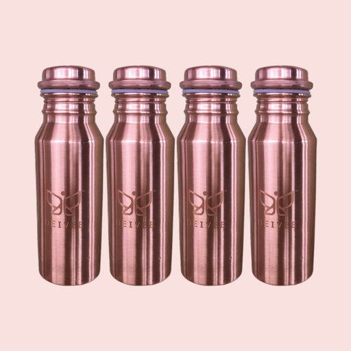 Combo - Travel Size Printed Copper Water Bottles -4 - Deivee