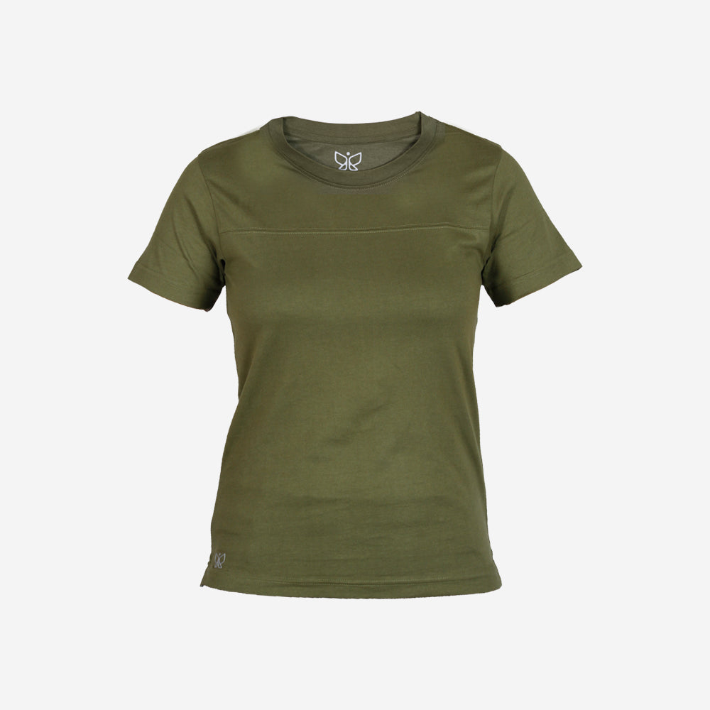 Mehandi Green Yoga T-Shirt - Deivee