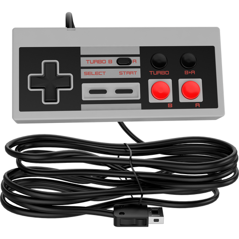 10ft NES Classic Mini Controller [TURBO EDITION] Rapid Buttons - Nintendo Classic Edition