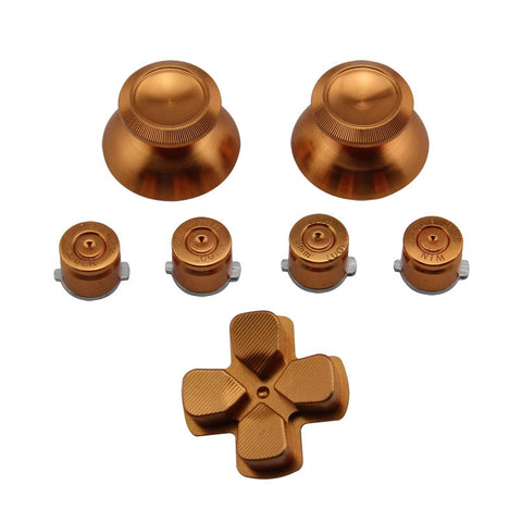 Aluminium 7 in 1 kit for ps4 controller Dark gold color