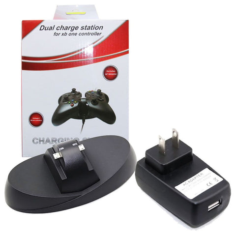 Dual Charger Game Controller Station with USB charging Cable for Xbox One