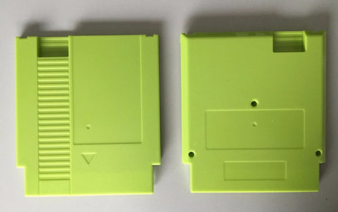 Green Color 72 Pins Game Cartridge Replacement Plastic Shell For NES
