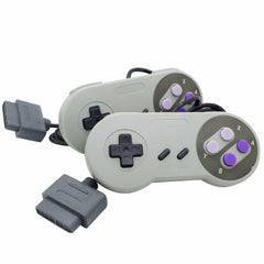 16Bit controller for Super Snes Nes system console contro pad with AV cable cord