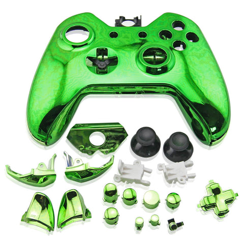 Housing Case Shell Button Parts Kit for Xbox One Wireless Controller Green