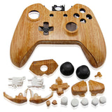 Housing Case Shell Button Kit for Xbox One Wireless Controller Wood Grain