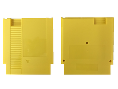 Yellow color 72 Pins Game Cartridge Replacement Plastic Shell For NES